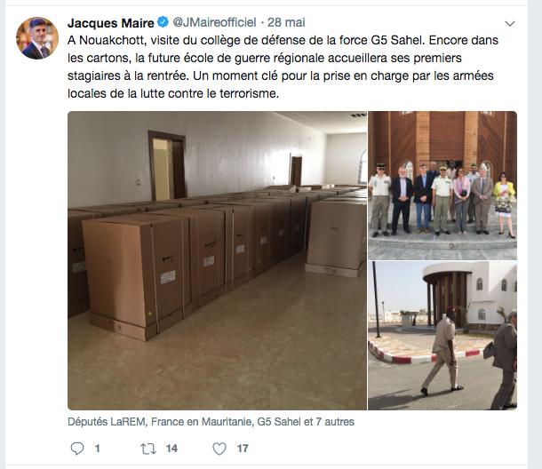 G5 Sahel : des députés français à Nouakchott