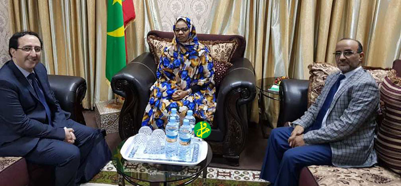 La ministre déléguée reçoit le directeur de la filiale de la Banque maghrébine d'investissement