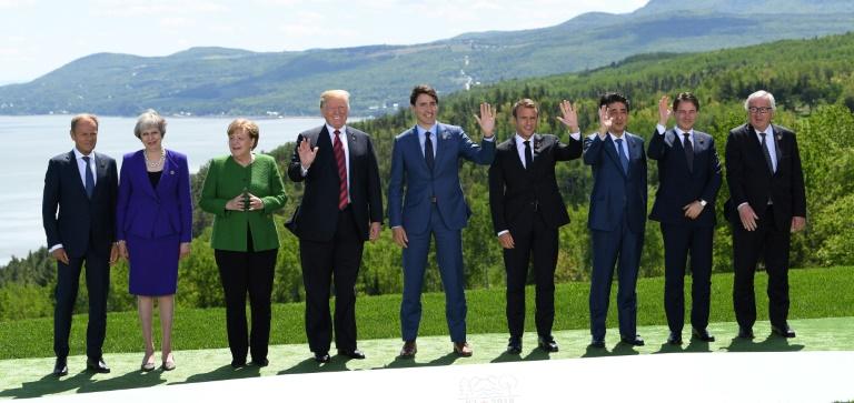 Au sommet du G7, sourires sur la forme, tensions sur le fond