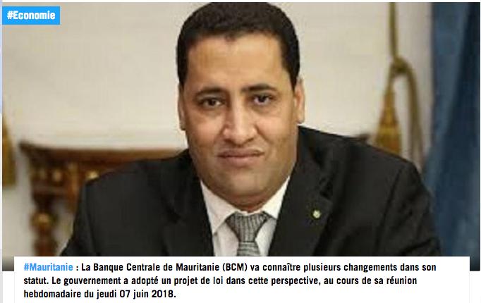 Mauritanie: vers une modification du statut de la banque centrale