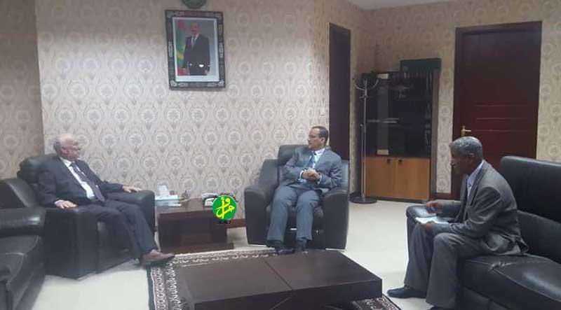 Le ministre des affaires étrangères reçoit le représentant résident du PNUD
