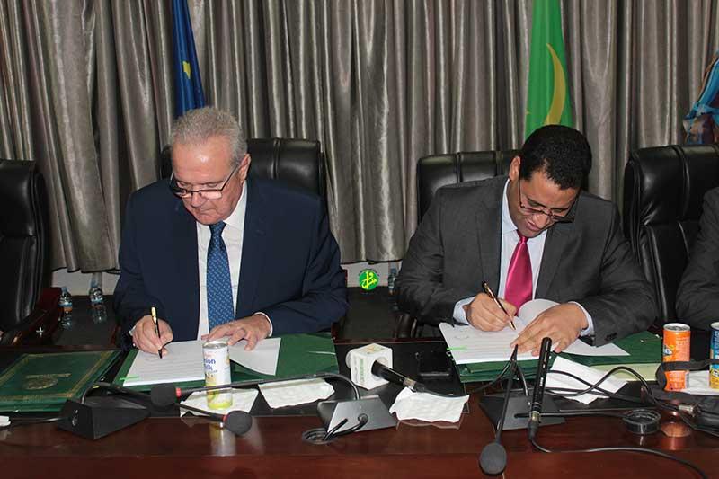 La Mauritanie et l'Union européenne signent deux conventions de financement d'un montant global de 47,6 millions d'Euros