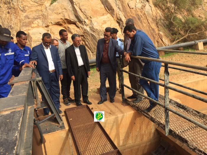 Le ministre de l'hydraulique visite certaines installations du Projet Aftout Chergui