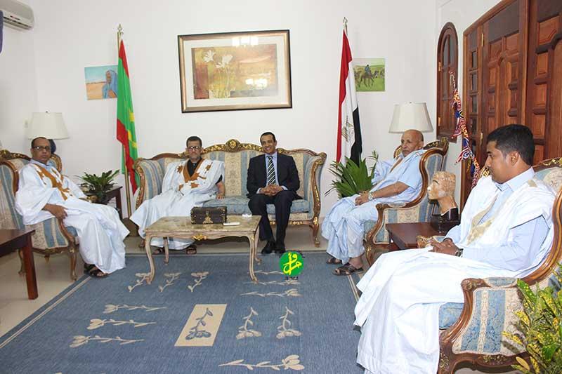 L'ambassadeur égyptien souligne la solidité des relations mauritano-égyptiennes