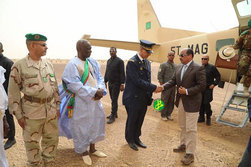 Le Président de la République arrive à Boghé, wilaya du Brakna