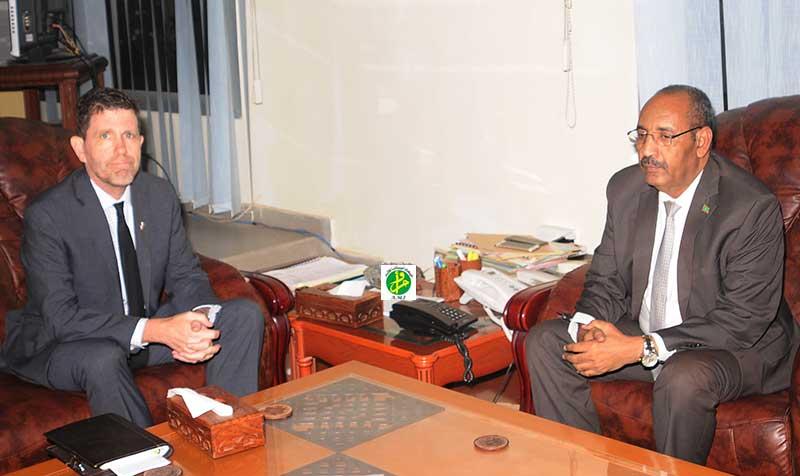 Le ministre de l'intérieur reçoit l'ambassadeur des Etats Unis