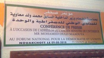 L'ex-ministre de l'intérieur Ould Maaouiya renforce les rangs du FNDU
