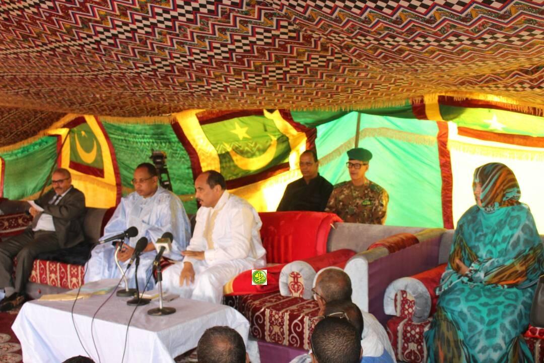 Le Président de la République tient une réunion avec les cadres et les élus des moughataas du Hodh Charghi