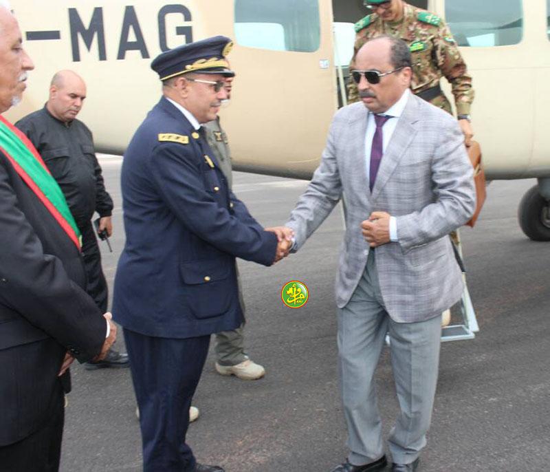 Arrivée à Kiffa du Président de la République en provenance de Néma