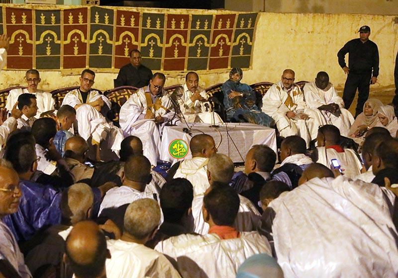 Le Président de la République se réunit aux cadres et élus de l'Assaba