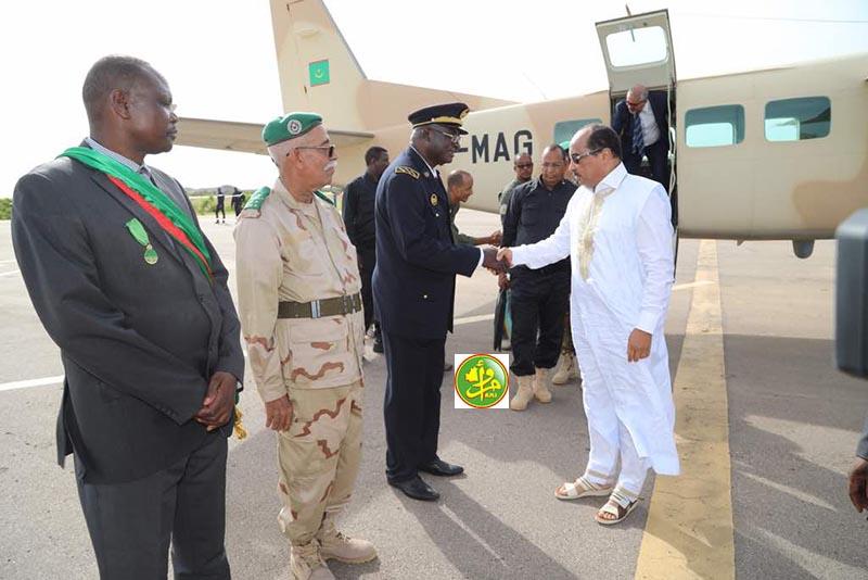 Le Président de la République arrive à Sélibaby pour une visite dans la wilaya du Guidimakha