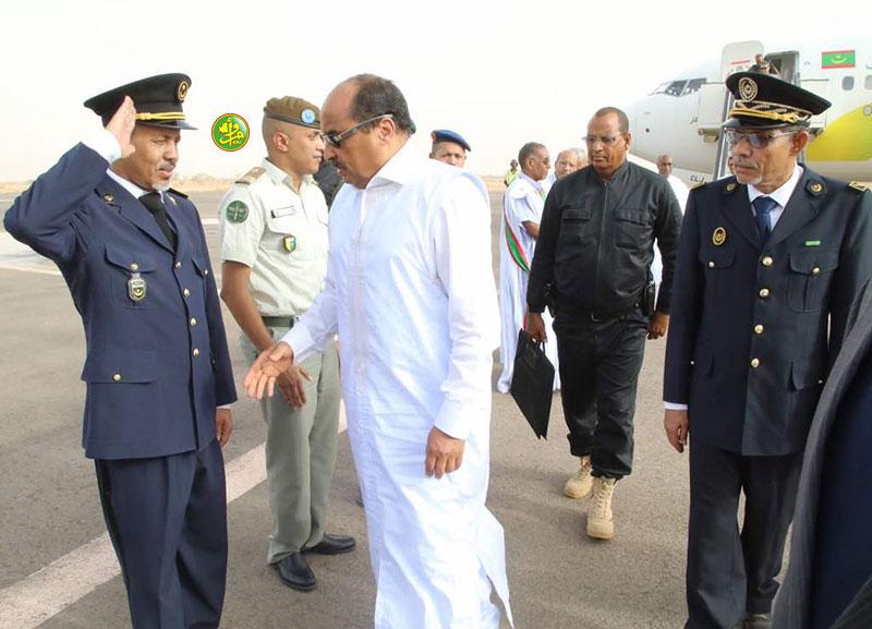 Arrivée du Président de la République à Zouerate