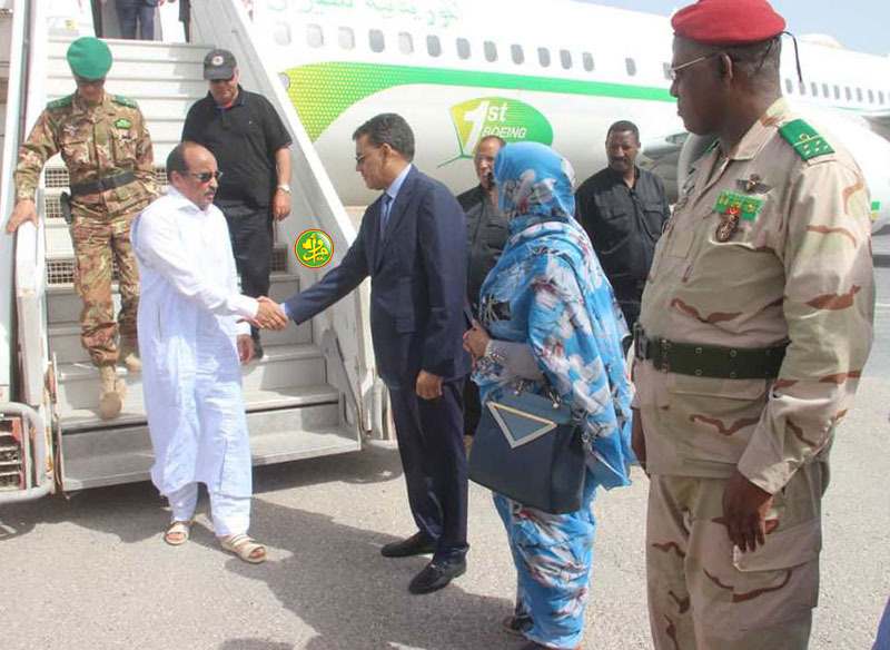 Arrivée du Président de la République à Nouadhibou