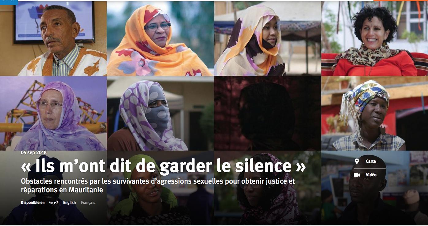 « Ils m'ont dit de garder le silence » / Obstacles rencontrés par les survivantes d'agressions sexuelles pour obtenir justice et réparations en Mauritanie