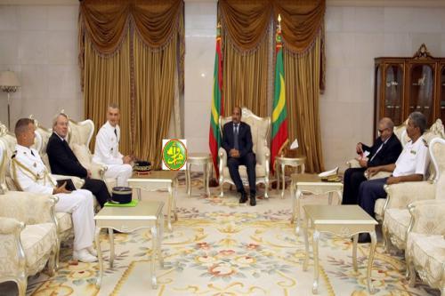 Le Président de la République reçoit en audience le commandant de la force Barkhane au Sahel