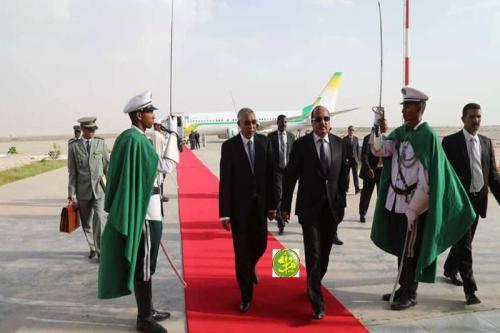 Le Président de la République regagne Nouakchott en provenance de Conakry