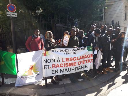 Paris, 4 octobre 2018 : Sit-in de soutien au leader abolitionniste emprisonné Biram