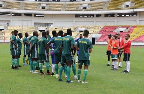 Dernier galop des Mourabitounes avant le match contre l'Angola