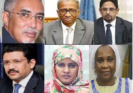 Nouveau Gouvernement du PM Ould Bechir : les cinq partants