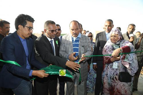Le Président de la République inaugure l'usine Jewda à Néma