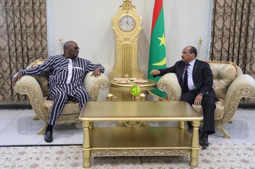 Le Président de la République s'entretint en tête- à- tête avec son homologue burkinabé