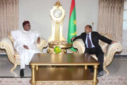 Le Président de la République s'entretint en tête- à- tête avec son homologue nigérien