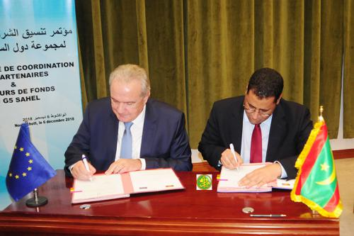 Signature des conventions de financement entre notre pays et l'Union Européenne