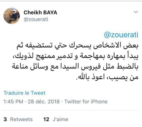 Baya accuse des individus de vouloir démolir systématiquement les siens