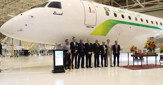 Embraer livre le premier E175 à Mauritania Airlines
