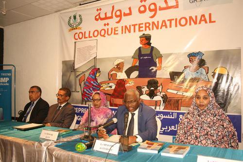 Ouverture d'un colloque international '' Quels modèles économiques pour l'entrepreneuriat féminin au Maghreb et au Sahel : enjeux et perspectives''
