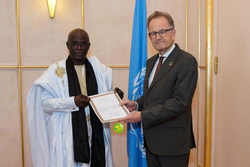 Notre ambassadeur auprès de l'ONU à Genève présente ses lettres de créances