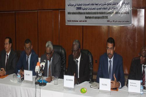 Atelier de présentation des résultats du projet de révision du système des comptes nationaux en Mauritanie