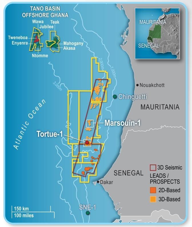 Blocs Sénégal et Mauritanie: Kosmos veut vendre 10 % de ses parts