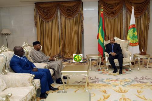 Le Président de la République reçoit le représentant spécial du secrétaire général des Nations Unies pour l'Afrique de l'Ouest et la région du Sahel