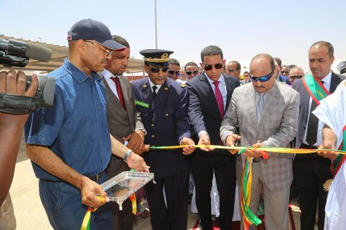 Le Président de la République inaugure la station électrique hybride (thermique-solaire) dans la ville de Kiffa