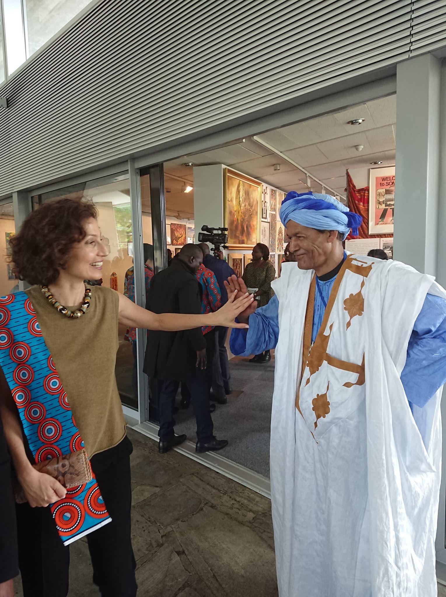 avec Audrey Azouley, directrice générale de l'Unesco / crédit Khaïl