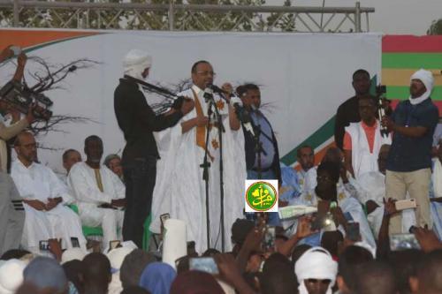 Le candidat Sidi Mohamed Ould Boubacar préside un meeting électoral dans la ville de Sélibabi
