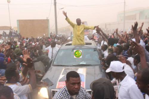 Le candidat Biram Dah Abeid préside un meeting électoral à Sélibabi
