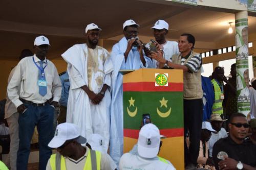 Le candidat Kane Hamidou Baba préside un meeting électoral à Zouerate