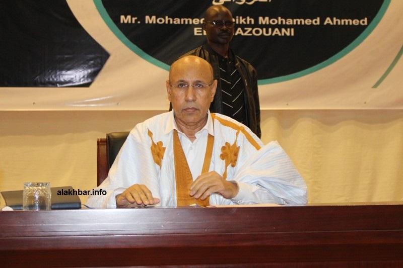 Mohamed O. Ghazouani rencontre son premier comité électoral