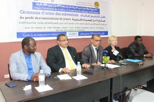 Des associations des jeunes bénéficient des subventions financières du projet prévention de conflits et promotion du dialogue interculturel