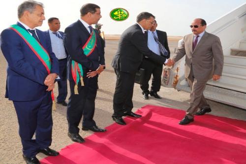 Le Président de la République arrive à Nouadhibou