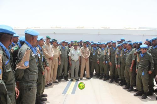 La 6eme unité de la gendarmerie nationale regagne la patrie en provenance de la Centrafrique