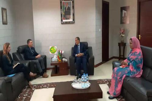 Le ministre des Affaires étrangères s'entretient avec l'ambassadeur des Etats Unis d'Amérique à Nouakchott