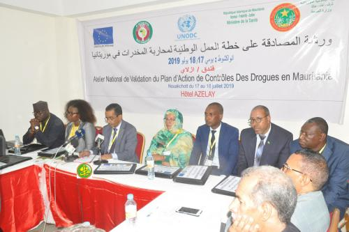 Atelier de validation du plan national de lutte anti-drogue en Mauritanie