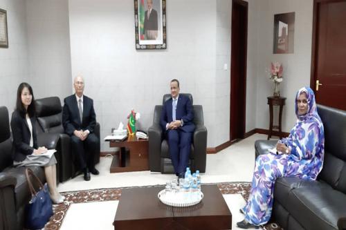 Le ministre des Affaires étrangères s'entretient avec l'ambassadeur du Japon à Nouakchott