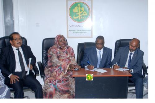 Le ministre de la culture visite l'Agence Mauritanienne d'Information