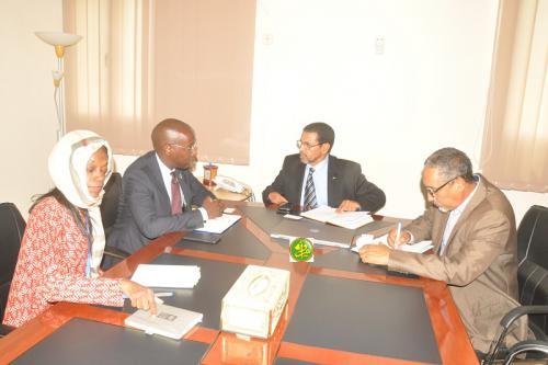 Le ministre de la Santé s'entretient avec le représentant du PNUD en Mauritanie