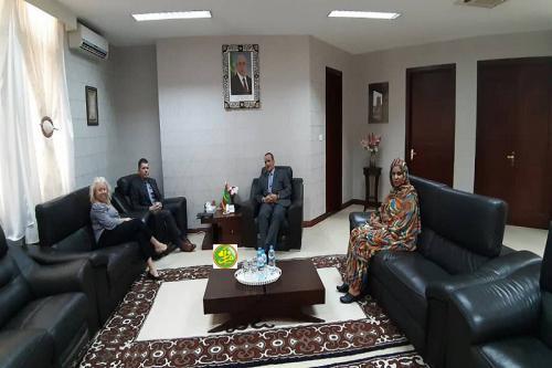 Le ministre des affaires étrangères reçoit l'ambassadeur des Etats Unis d'Amérique