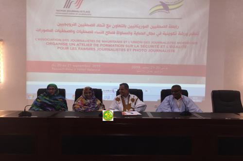 Atelier sur la sécurité et l'égalité des femmes journalistes et photojournalistes